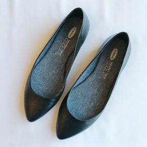 Dr. Scholl's Black Leather Flats